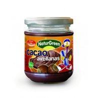Crema de cacao y avellanas sin gluten 200 gramos naturgreen
