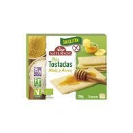 Tostadas de maiz y arroz sin gluten bio vegano 150 gramos natursoy