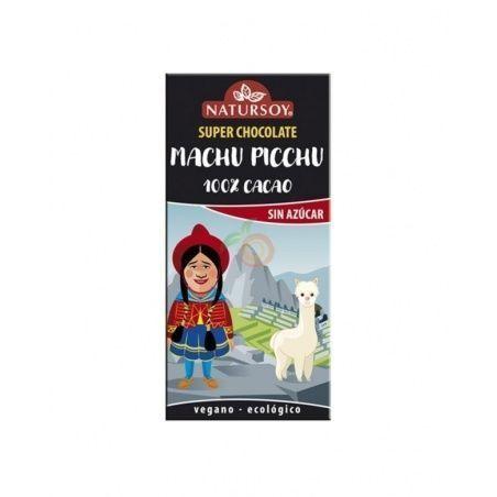 Super chocolate machu pichu cien por cien cacao sin azucar 100 gramos natursoy