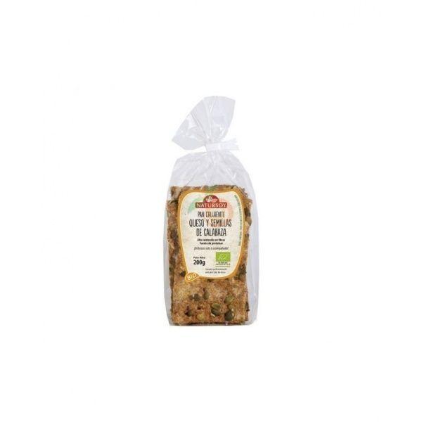 Pan crujiente queso y semillas de calabaza bio 200 ml natursoy