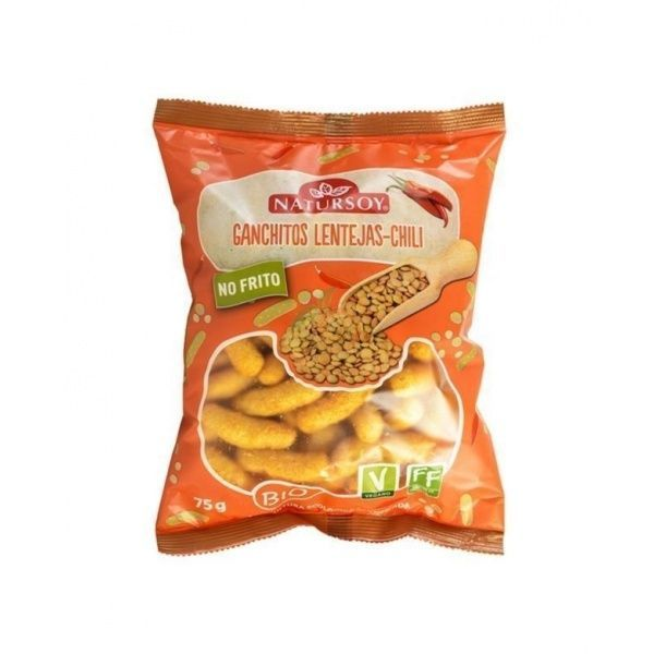 Ganchitos lentejas chili bio 75 gramos natursoy
