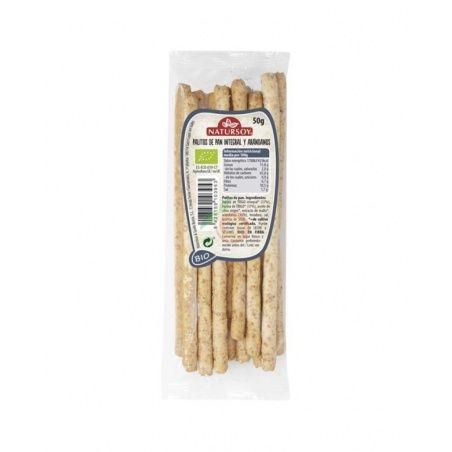 Palitos de trigo integral con arándanos bio 50 gramos natursoy