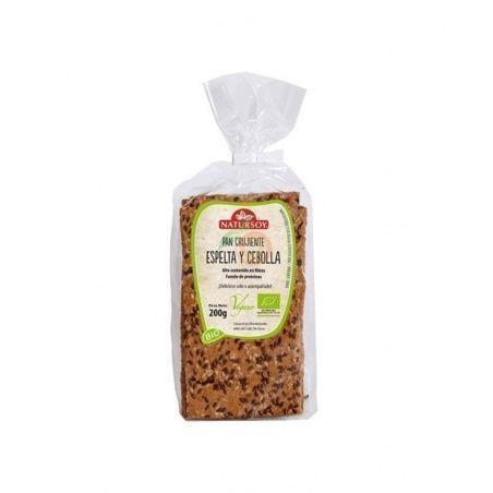 Pan crujiente de espelta y cebolla bio 200 gramos natursoy