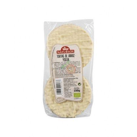 Tortitas de arroz y yogur bio 100 gramos natursoy