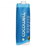 Agua coco cocowell brick 1 litro 100 por cieen natural